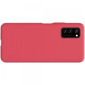 NILLKIN Super Frosted Shield Матовая Пластиковая Нескользящая Клип кейс накладка для Huawei Honor View 30 / View 30 Pro / 30 Pro - Красный