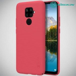 NILLKIN Super Frosted Shield Матовая Пластиковая Нескользящая Клип кейс накладка для Huawei Mate 30 Lite - Красный