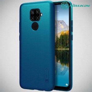 NILLKIN Super Frosted Shield Матовая Пластиковая Нескользящая Клип кейс накладка для Huawei Mate 30 Lite - Синий