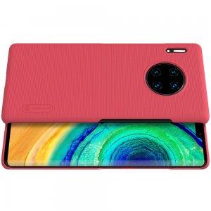 NILLKIN Super Frosted Shield Матовая Пластиковая Нескользящая Клип кейс накладка для Huawei Mate 30 Pro - Красный
