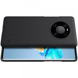 NILLKIN Super Frosted Shield Матовая Пластиковая Нескользящая Клип кейс накладка для Huawei Mate 40 Pro - Черный