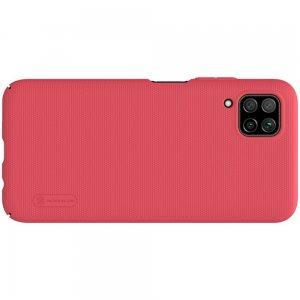 NILLKIN Super Frosted Shield Матовая Пластиковая Нескользящая Клип кейс накладка для Huawei P40 Lite - Красный