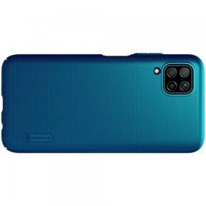 NILLKIN Super Frosted Shield Матовая Пластиковая Нескользящая Клип кейс накладка для Huawei P40 Lite - Синий