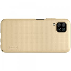NILLKIN Super Frosted Shield Матовая Пластиковая Нескользящая Клип кейс накладка для Huawei P40 Lite - Золотой