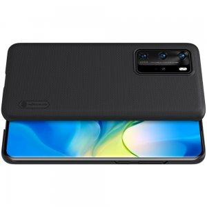 NILLKIN Super Frosted Shield Матовая Пластиковая Нескользящая Клип кейс накладка для Huawei P40 Pro - Черный