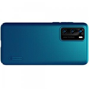 NILLKIN Super Frosted Shield Матовая Пластиковая Нескользящая Клип кейс накладка для Huawei P40 - Синий