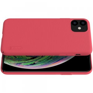 NILLKIN Super Frosted Shield Матовая Пластиковая Нескользящая Клип кейс накладка для iPhone 11 - Красный