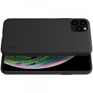 NILLKIN Super Frosted Shield Матовая Пластиковая Нескользящая Клип кейс накладка для iPhone 11 Pro Max - Черный