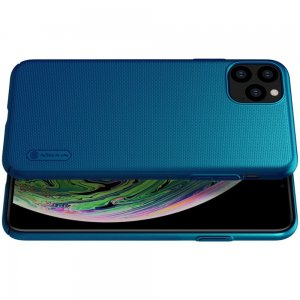 NILLKIN Super Frosted Shield Матовая Пластиковая Нескользящая Клип кейс накладка для iPhone 11 Pro Max - Синий