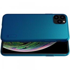 NILLKIN Super Frosted Shield Матовая Пластиковая Нескользящая Клип кейс накладка для iPhone 11 Pro - Синий
