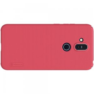 NILLKIN Super Frosted Shield Матовая Пластиковая Нескользящая Клип кейс накладка для Nokia 8.1 - Красный