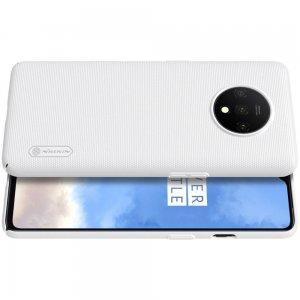 NILLKIN Super Frosted Shield Матовая Пластиковая Нескользящая Клип кейс накладка для OnePlus 7T - Белый
