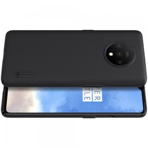 NILLKIN Super Frosted Shield Матовая Пластиковая Нескользящая Клип кейс накладка для OnePlus 7T - Черный