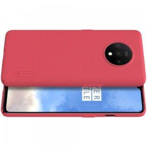 NILLKIN Super Frosted Shield Матовая Пластиковая Нескользящая Клип кейс накладка для OnePlus 7T - Красный