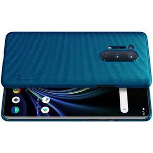 NILLKIN Super Frosted Shield Матовая Пластиковая Нескользящая Клип кейс накладка для OnePlus 8 Pro - Синий