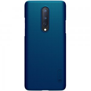 NILLKIN Super Frosted Shield Матовая Пластиковая Нескользящая Клип кейс накладка для OnePlus 8 - Синий