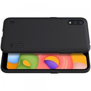 NILLKIN Super Frosted Shield Матовая Пластиковая Нескользящая Клип кейс накладка для Samsung Galaxy A01 - Черный