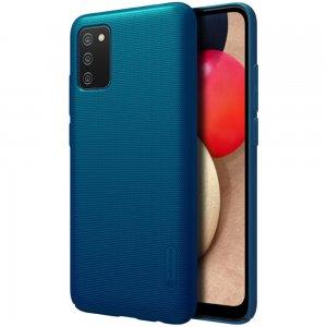 NILLKIN Super Frosted Shield Матовая Пластиковая Нескользящая Клип кейс накладка для Samsung Galaxy A02s - Синий