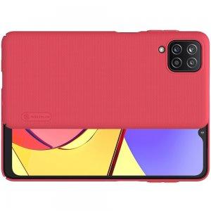 NILLKIN Super Frosted Shield Матовая Пластиковая Нескользящая Клип кейс накладка для Samsung Galaxy A12 - Красный