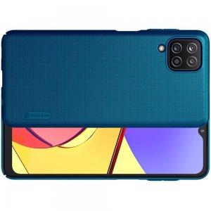 NILLKIN Super Frosted Shield Матовая Пластиковая Нескользящая Клип кейс накладка для Samsung Galaxy A12 - Синий