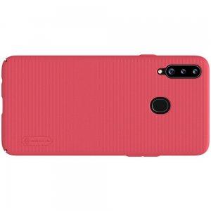 NILLKIN Super Frosted Shield Матовая Пластиковая Нескользящая Клип кейс накладка для Samsung Galaxy A20s - Красный