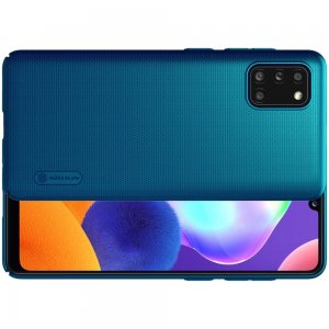 NILLKIN Super Frosted Shield Матовая Пластиковая Нескользящая Клип кейс накладка для Samsung Galaxy A31 - Синий