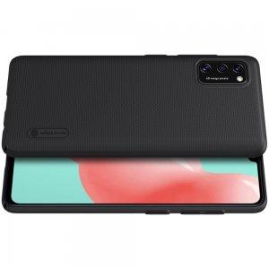 NILLKIN Super Frosted Shield Матовая Пластиковая Нескользящая Клип кейс накладка для Samsung Galaxy A41 - Черный