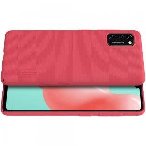 NILLKIN Super Frosted Shield Матовая Пластиковая Нескользящая Клип кейс накладка для Samsung Galaxy A41 - Красный