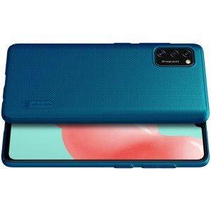 NILLKIN Super Frosted Shield Матовая Пластиковая Нескользящая Клип кейс накладка для Samsung Galaxy A41 - Синий