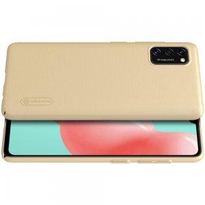 NILLKIN Super Frosted Shield Матовая Пластиковая Нескользящая Клип кейс накладка для Samsung Galaxy A41 - Золотой