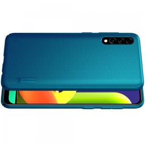 NILLKIN Super Frosted Shield Матовая Пластиковая Нескользящая Клип кейс накладка для Samsung Galaxy A50 / A30s - Синий