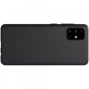 NILLKIN Super Frosted Shield Матовая Пластиковая Нескользящая Клип кейс накладка для Samsung Galaxy A71 - Черный