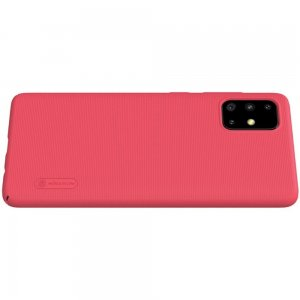 NILLKIN Super Frosted Shield Матовая Пластиковая Нескользящая Клип кейс накладка для Samsung Galaxy A71 - Красный