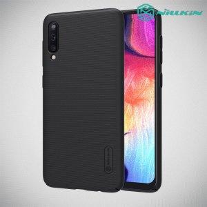 NILLKIN Super Frosted Shield Матовая Пластиковая Нескользящая Клип кейс накладка для Samsung Galaxy A80 / A90 - Черный