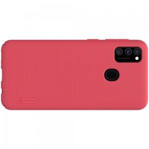 NILLKIN Super Frosted Shield Матовая Пластиковая Нескользящая Клип кейс накладка для Samsung Galaxy M30s - Красный