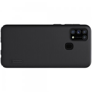 NILLKIN Super Frosted Shield Матовая Пластиковая Нескользящая Клип кейс накладка для Samsung Galaxy M31 - Черный