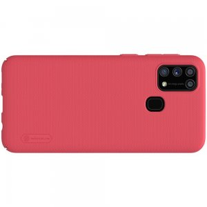 NILLKIN Super Frosted Shield Матовая Пластиковая Нескользящая Клип кейс накладка для Samsung Galaxy M31 - Красный