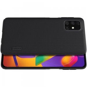 NILLKIN Super Frosted Shield Матовая Пластиковая Нескользящая Клип кейс накладка для Samsung Galaxy M31s - Черный