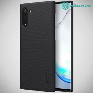 NILLKIN Super Frosted Shield Матовая Пластиковая Нескользящая Клип кейс накладка для Samsung Galaxy Note 10 - Черный