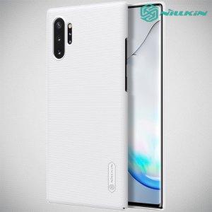 NILLKIN Super Frosted Shield Матовая Пластиковая Нескользящая Клип кейс накладка для Samsung Galaxy Note 10 Plus - Белый