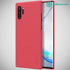 NILLKIN Super Frosted Shield Матовая Пластиковая Нескользящая Клип кейс накладка для Samsung Galaxy Note 10 Plus - Красный
