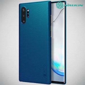 NILLKIN Super Frosted Shield Матовая Пластиковая Нескользящая Клип кейс накладка для Samsung Galaxy Note 10 Plus - Синий