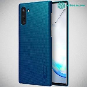 NILLKIN Super Frosted Shield Матовая Пластиковая Нескользящая Клип кейс накладка для Samsung Galaxy Note 10 - Синий
