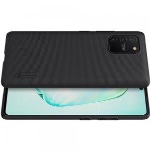 NILLKIN Super Frosted Shield Матовая Пластиковая Нескользящая Клип кейс накладка для Samsung Galaxy S10 Lite - Черный