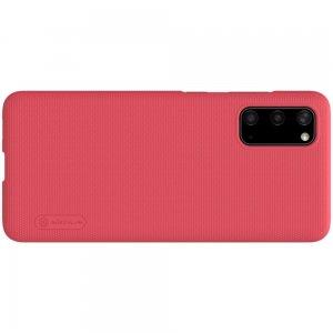 NILLKIN Super Frosted Shield Матовая Пластиковая Нескользящая Клип кейс накладка для Samsung Galaxy S20 - Красный