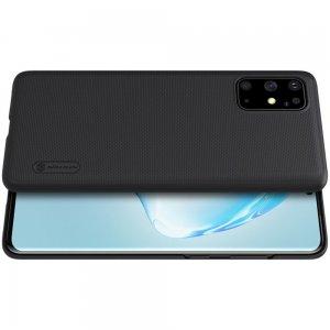 NILLKIN Super Frosted Shield Матовая Пластиковая Нескользящая Клип кейс накладка для Samsung Galaxy S20 Plus - Черный