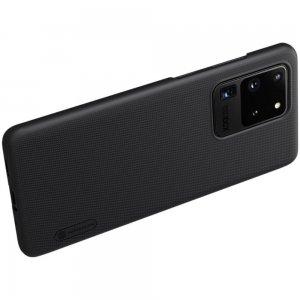 NILLKIN Super Frosted Shield Матовая Пластиковая Нескользящая Клип кейс накладка для Samsung Galaxy S20 Ultra - Черный