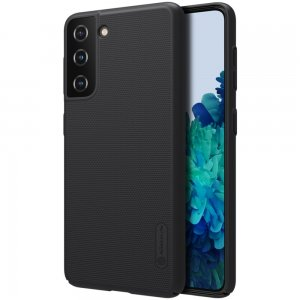 NILLKIN Super Frosted Shield Матовая Пластиковая Нескользящая Клип кейс накладка для Samsung Galaxy S21 - Черный