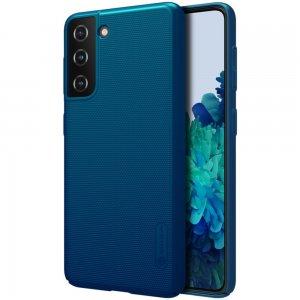 NILLKIN Super Frosted Shield Матовая Пластиковая Нескользящая Клип кейс накладка для Samsung Galaxy S21 - Синий