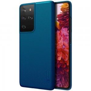 NILLKIN Super Frosted Shield Матовая Пластиковая Нескользящая Клип кейс накладка для Samsung Galaxy S21 Ultra - Синий